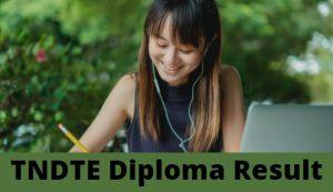 www.tndte.gov.in 2021 - Diploma Result
